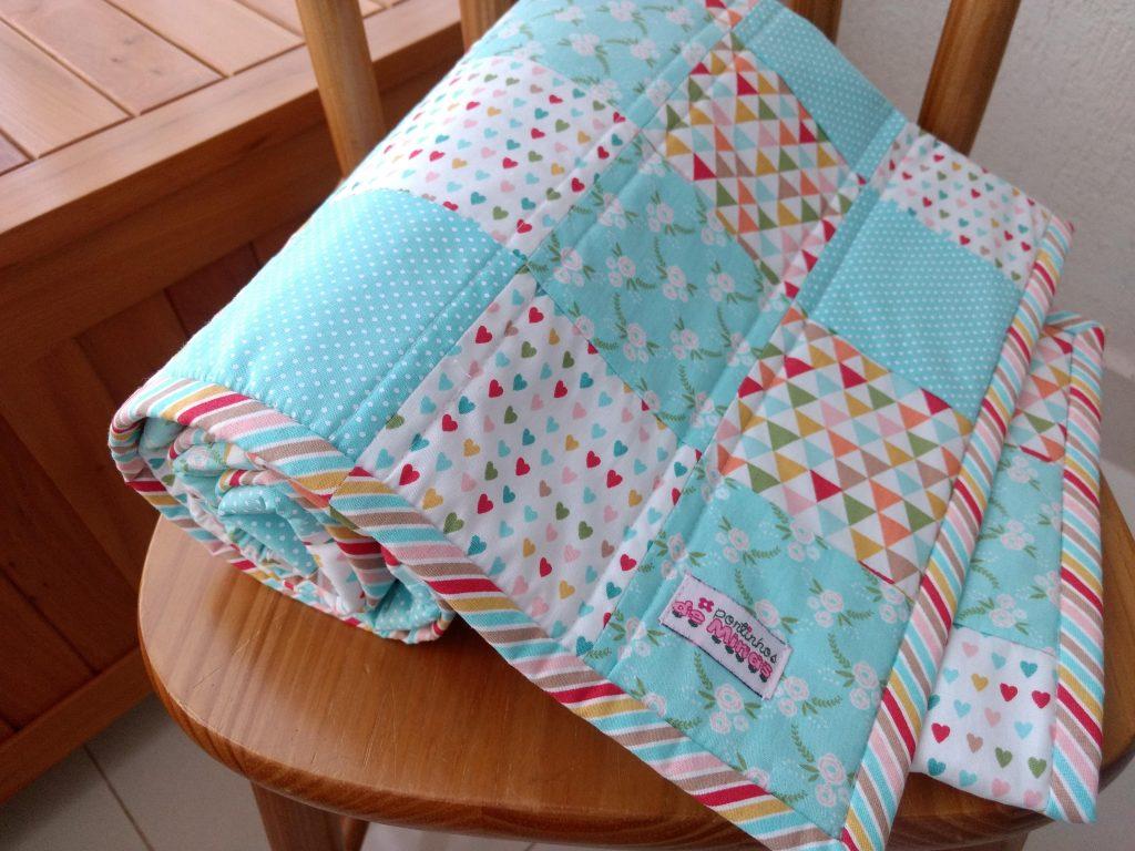 patchwork, baby quilt, colcha de retalhos